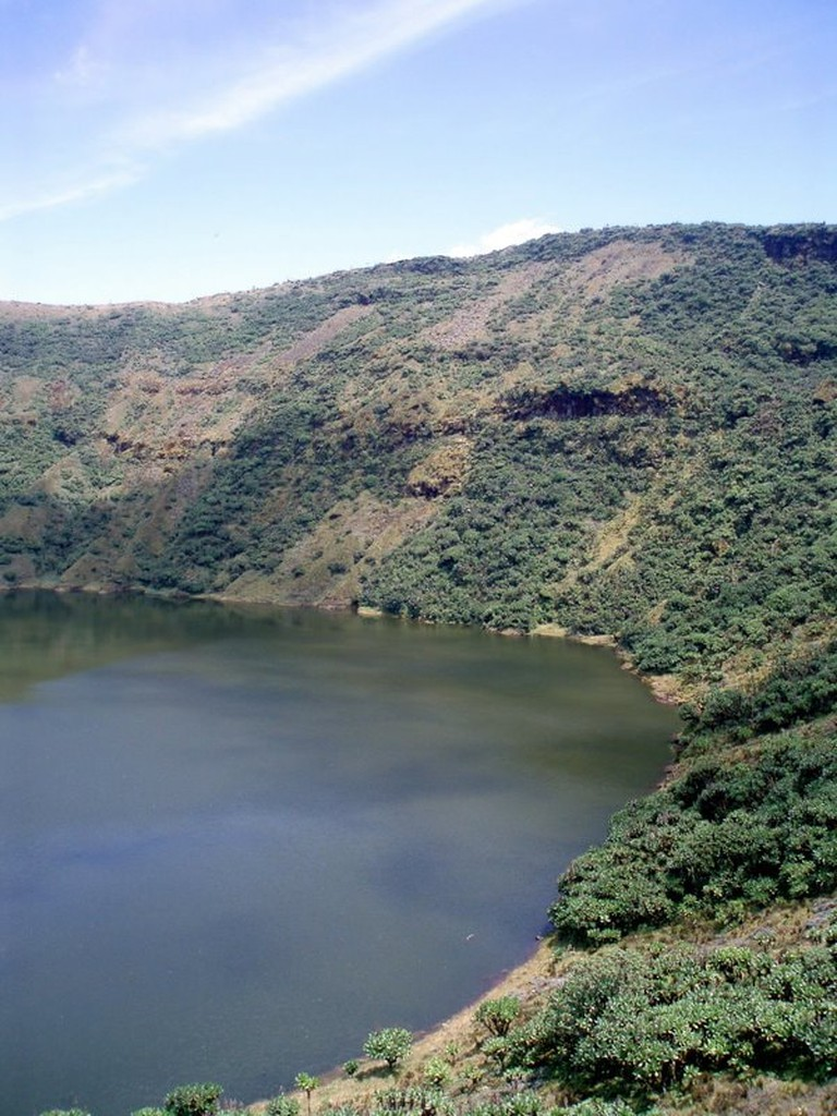 Crater Lake at Mount Bisoke