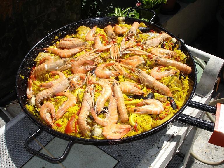 A seafood paella CC0