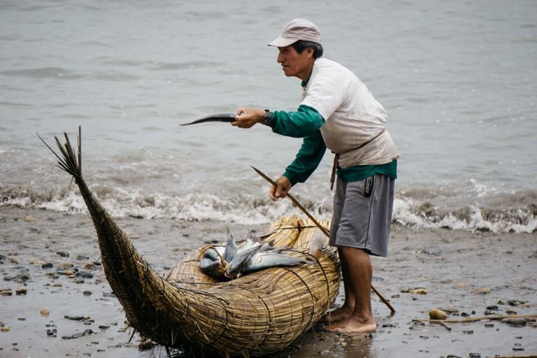 Fisherman in Huanchaco, Peru