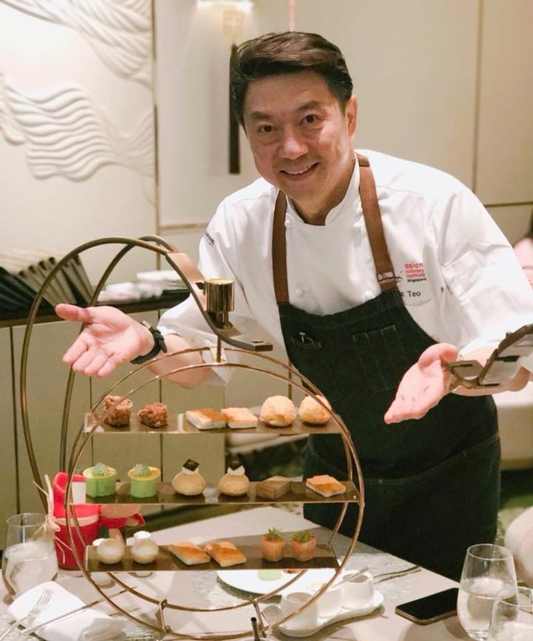 "Celebrity chef Eric Teo introduces his ""Sin"" Tea Set at the Lobby Lounge, Mandarin Oriental Macau"