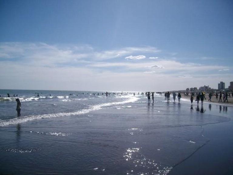 The beach in Bahia Blanca