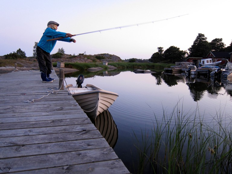 Fishing in the Stockholm archipelago