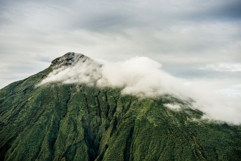 Mount Muhabura, the westernmost volcano | Courtesy of Gaël R. Vande weghe and Philippe Nyirimihigo