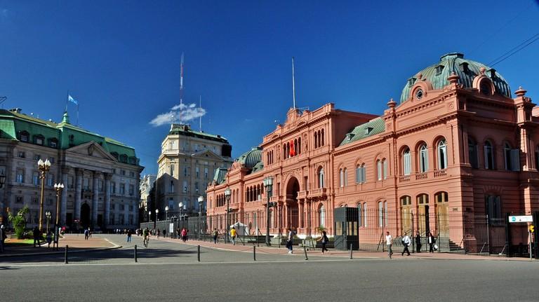 The Casa Rosada and the Plaza de Mayo