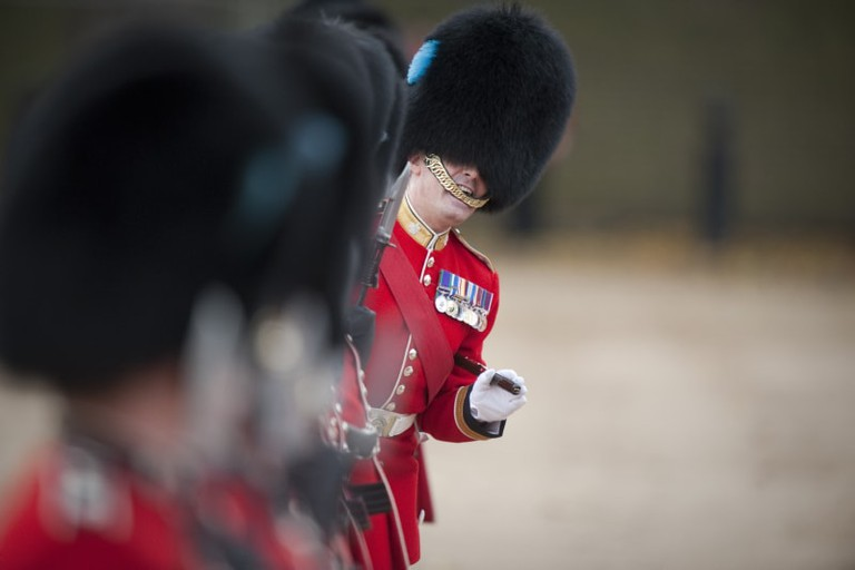 Irish Guards on Parade