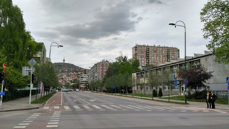 A neighbourhood street in Sarajevo