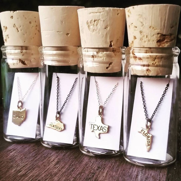 State in a Bottle Necklace