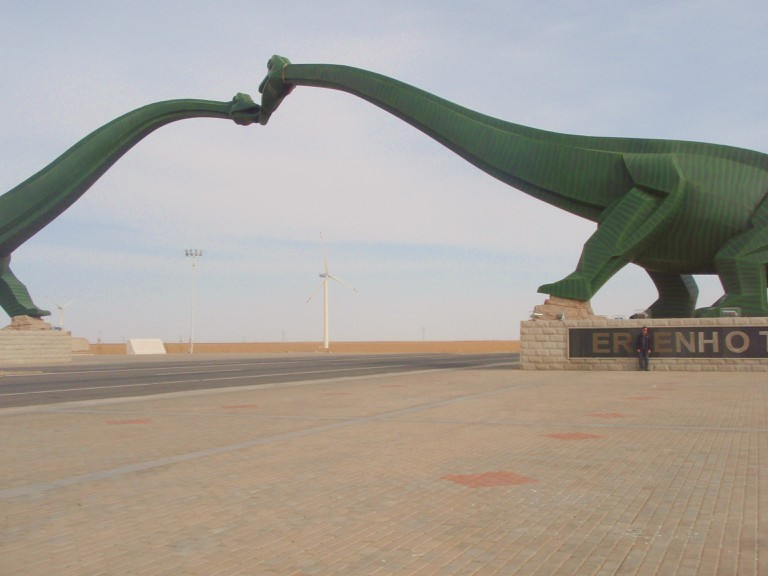 Kissing sauropods