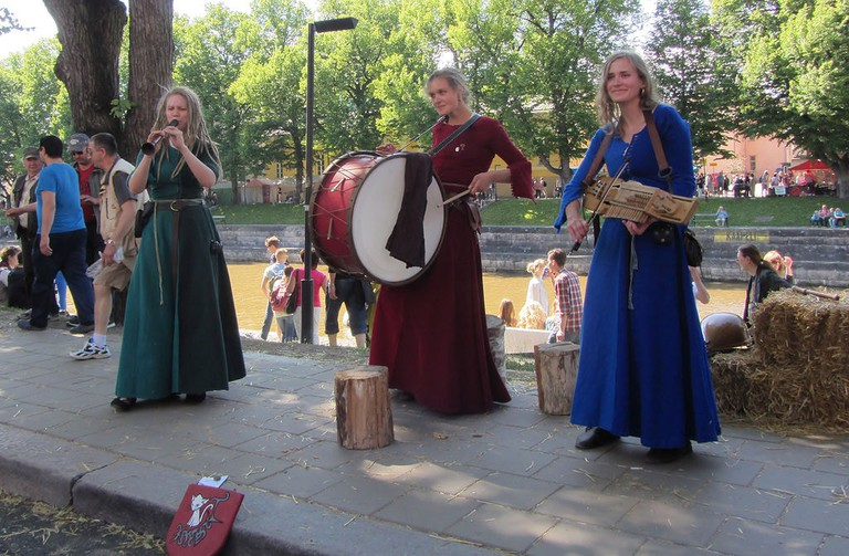 Musicians at the 2014 Medieval Market