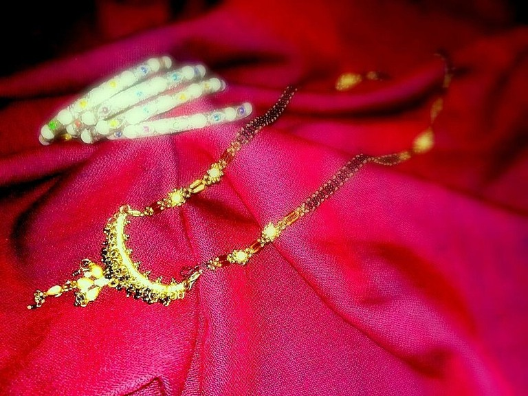 Mangalsutra with bangles