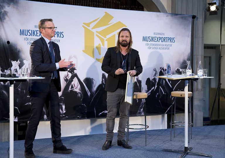 Producer Max Martin has helped keep Swedish music exports near the top