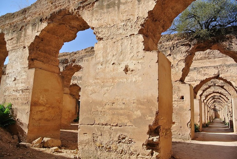 The old royal graneries and stables at Heri es Souani