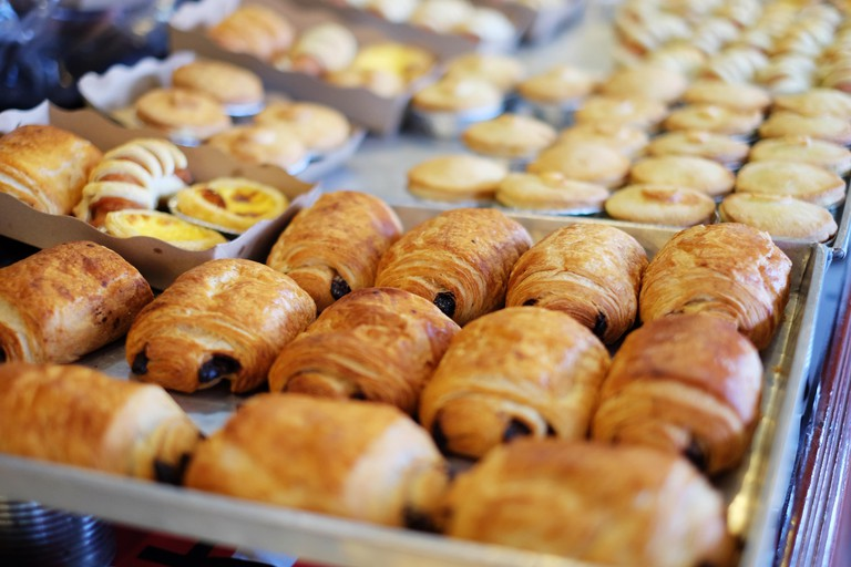 Pain au chocolat is a very common goûter for kids after school
