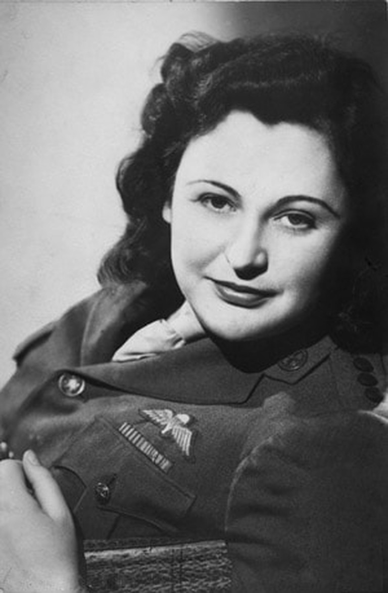 Studio portrait of Nancy Wake in 1945