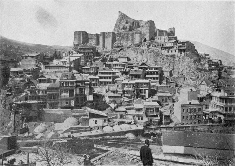 Narikala fortress and Old Town, Tbilisi, in 1911