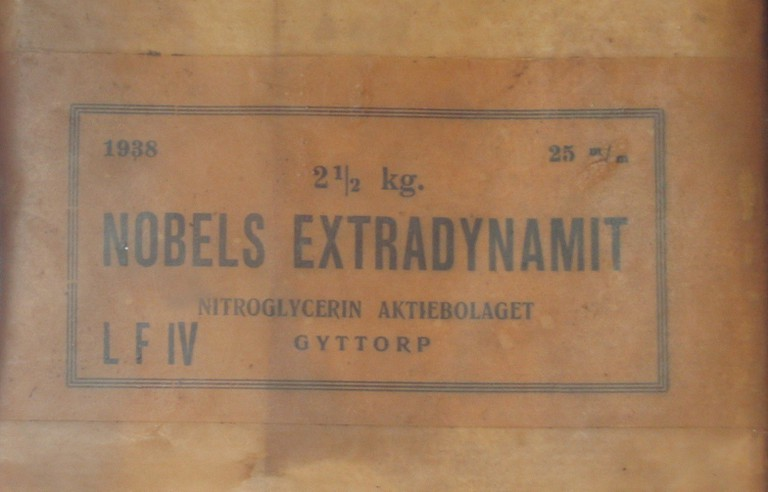 A box of Nobel's creation – dynamite