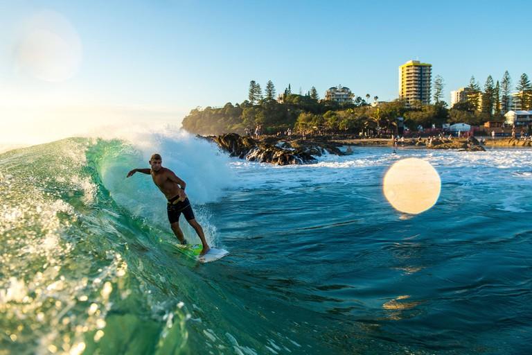 Mick Fanning surfs in Coolangatta, Australia