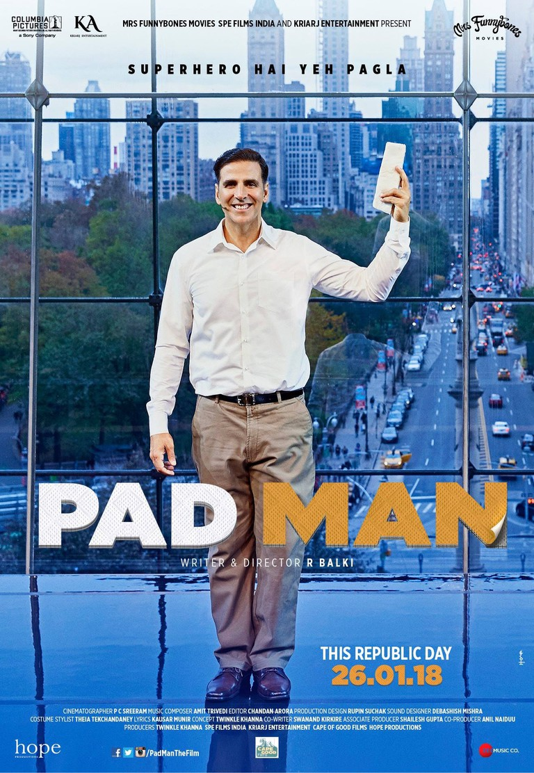 Bollywood film Pad Man is set to release on January 26, 2018