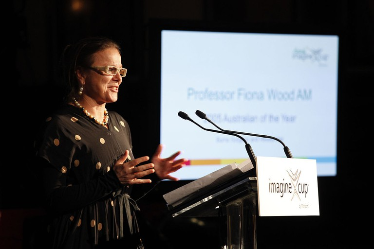 Professor Fiona Wood – 2012 Imagine Cup Announcement
