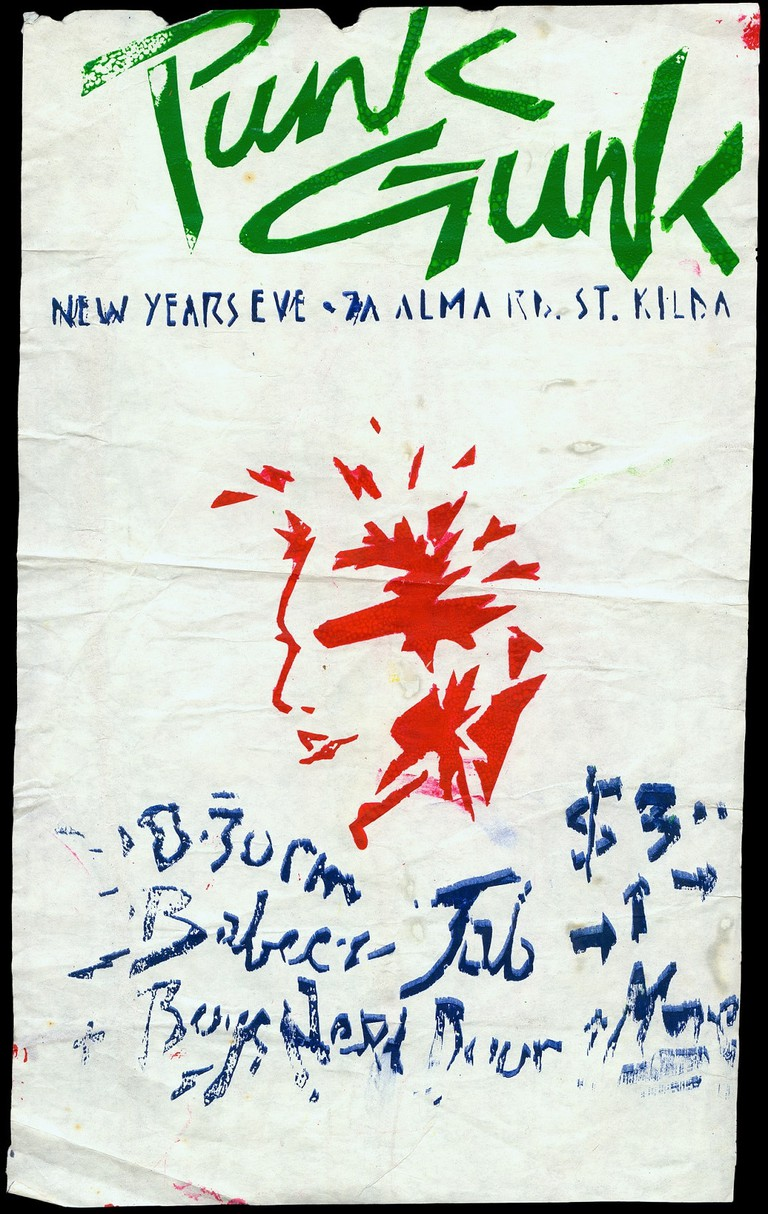 Punk Gunk, St Kilda, February 1977. Designed by Philip Brophy, Gift of Nick Cave. Australian Performing Arts Collection