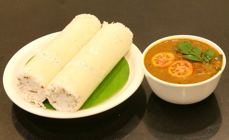 The best way to relish Puttu and Kadala is by smashing the Puttu into the Kadala curry with hand