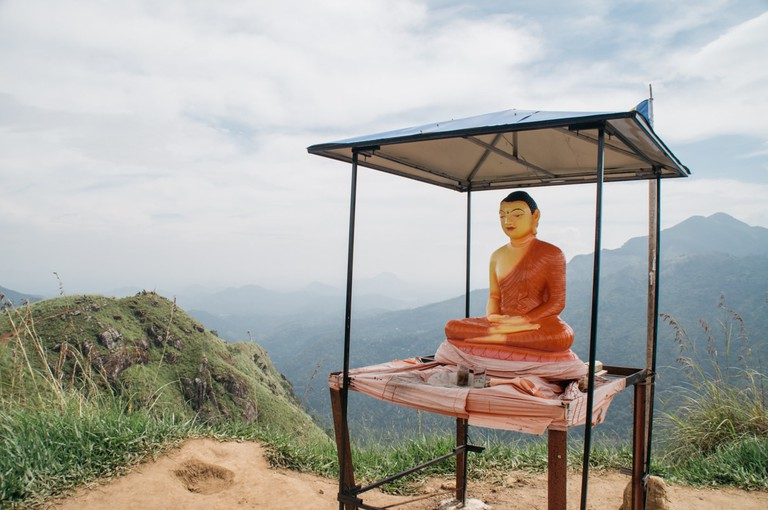 Buddha Statue on Little Adam's Peak