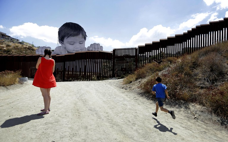 US-Mexico border installation by French artist, JR