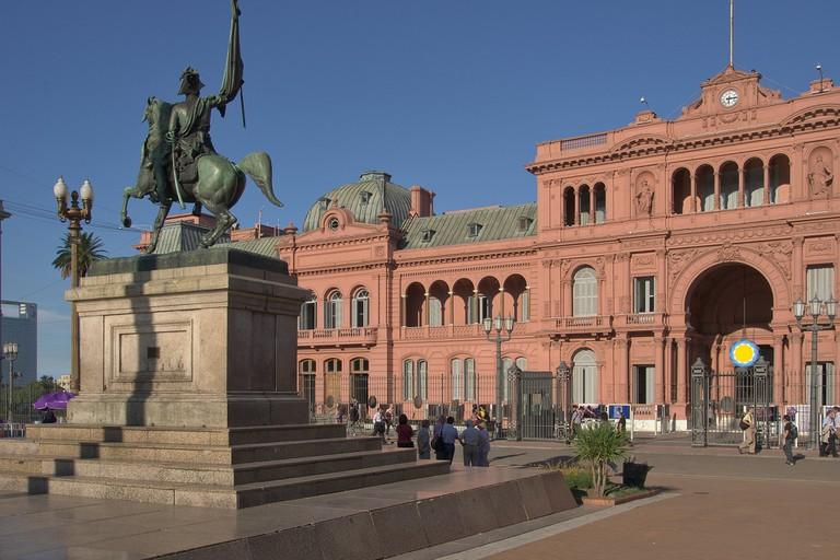 The Casa Rosada, an amalgamation of former buildings