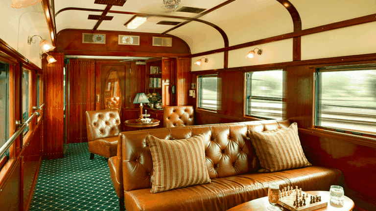 One of the luxurious lounges