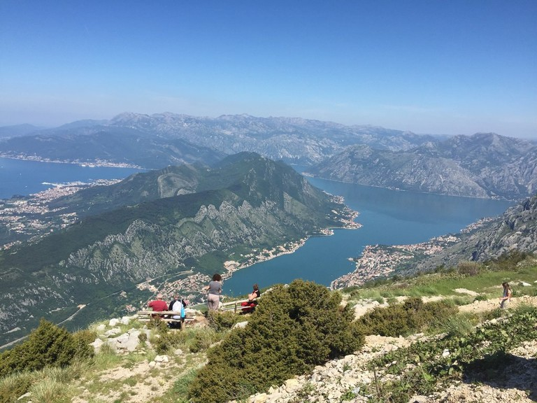 Bay of Kotor from Lovćen National Park