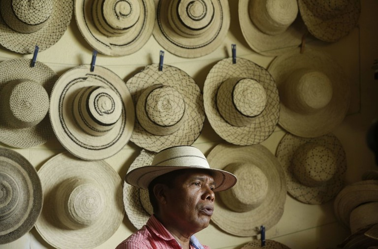 Traditional Panamanian pintao hat, Panama