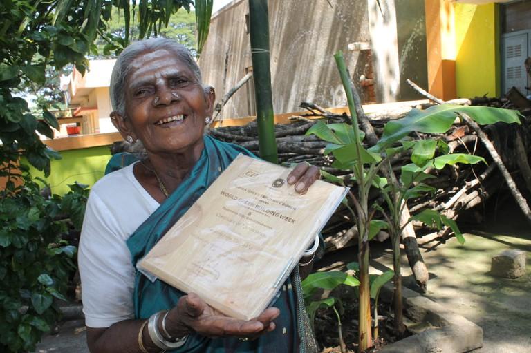 Thimmakka earned the prefix of Saalumarada, meaning 'a row of trees' in her native language
