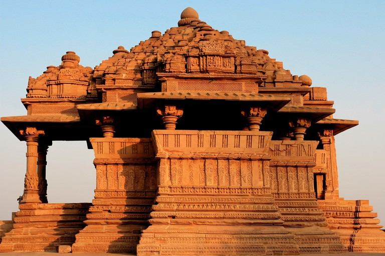 Saas-Bahu Temple atop the hill of Gwalior Fort