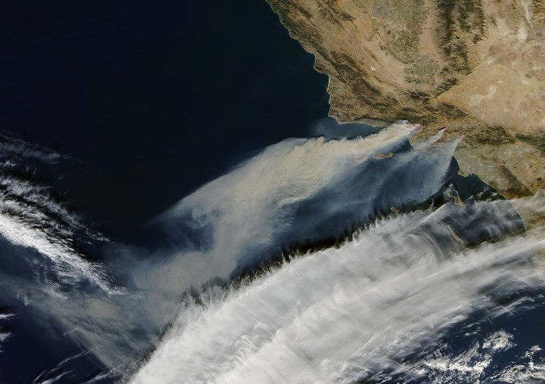 The Santa Ana Winds, as seen from space