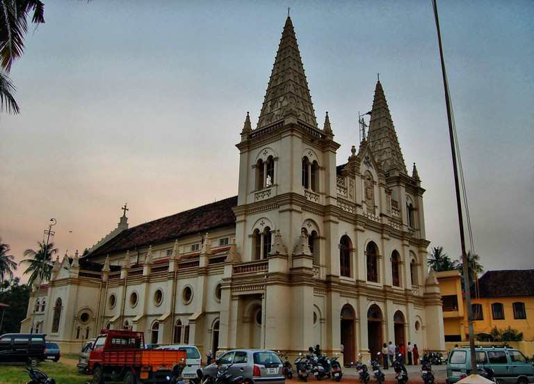 Santa Cruz Cathedral Basilica was built originally by the Portuguese and elevated to a Cathedral by Pope Paul IV in 1558