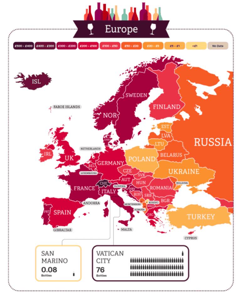 Wine consumption in Europe
