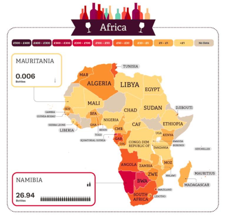 Wine consumption in Africa