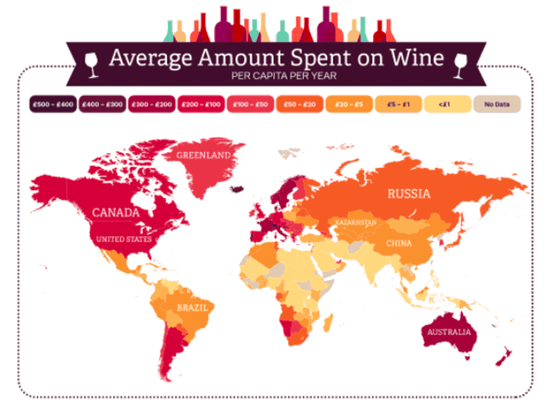A world map of wine consumption
