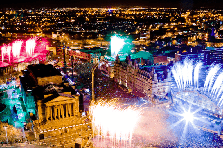Fireworks in Liverpool