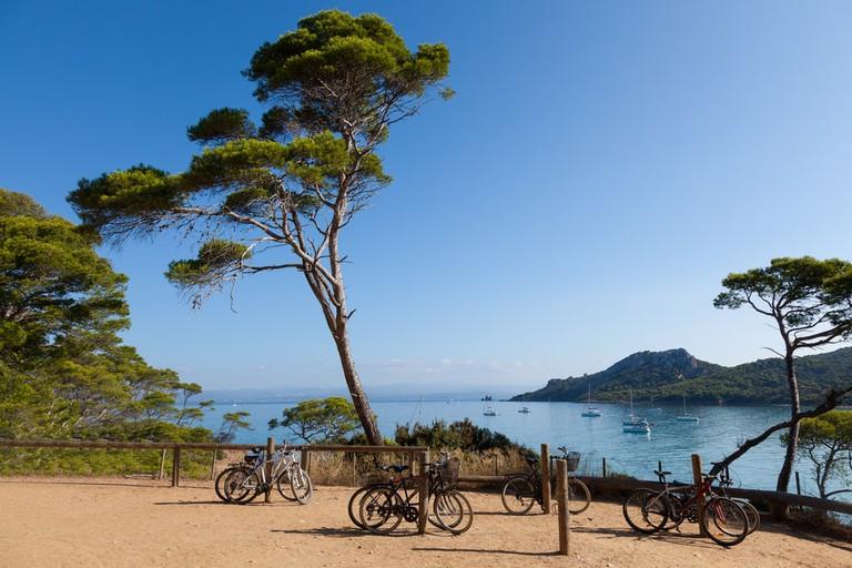 The island of Porquerolles in the Mediterranean