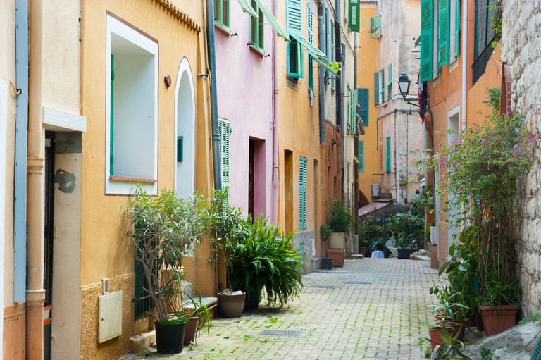 The cobbled streets of Villefranche-sur-Mer