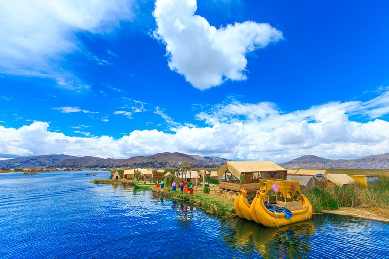 Uros people on Lake Titicaca