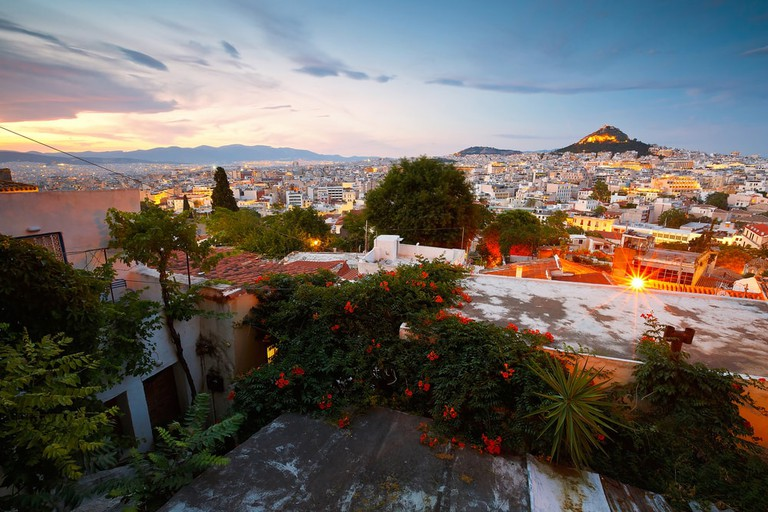 Athens, as seen from Anafiotika, Greece