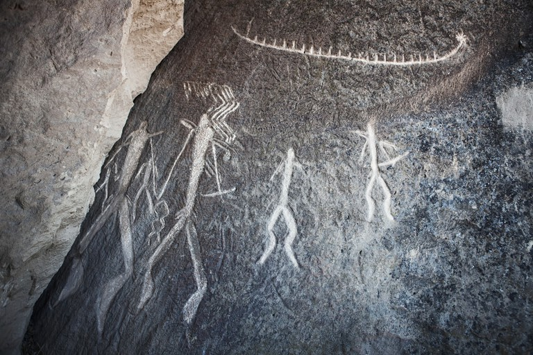 Cave paintings in Qobustan