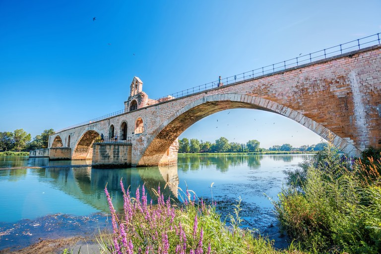 The famous bridge in Avignon