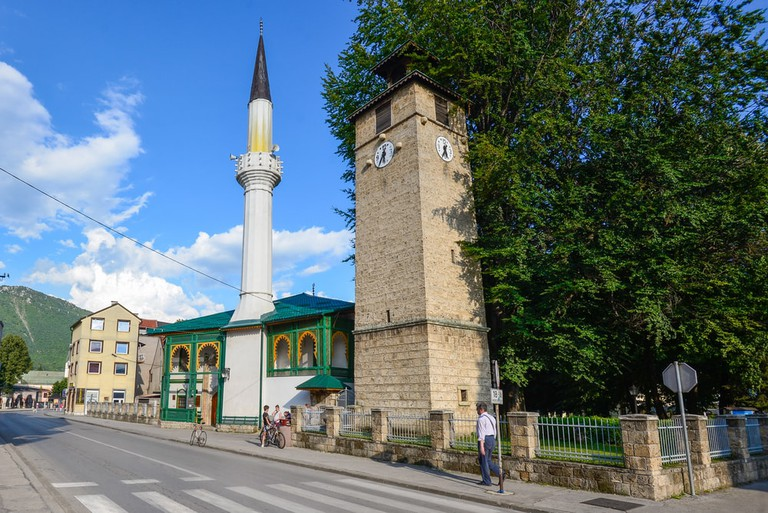 Lukacka Dzamija, one of the oldest mosques in Travnik's old town