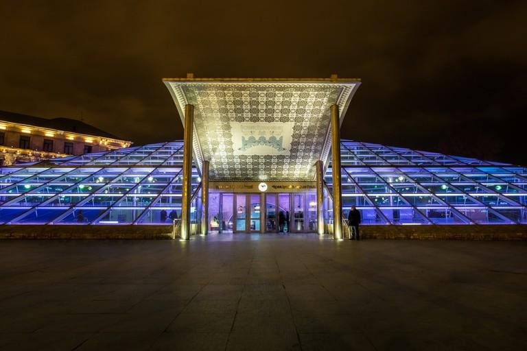 The futuristic Icheri Sheher metro station