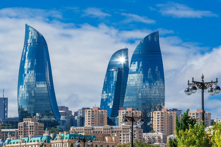 The iconic Flame Towers in Baku | © kerenby/Shutterstock