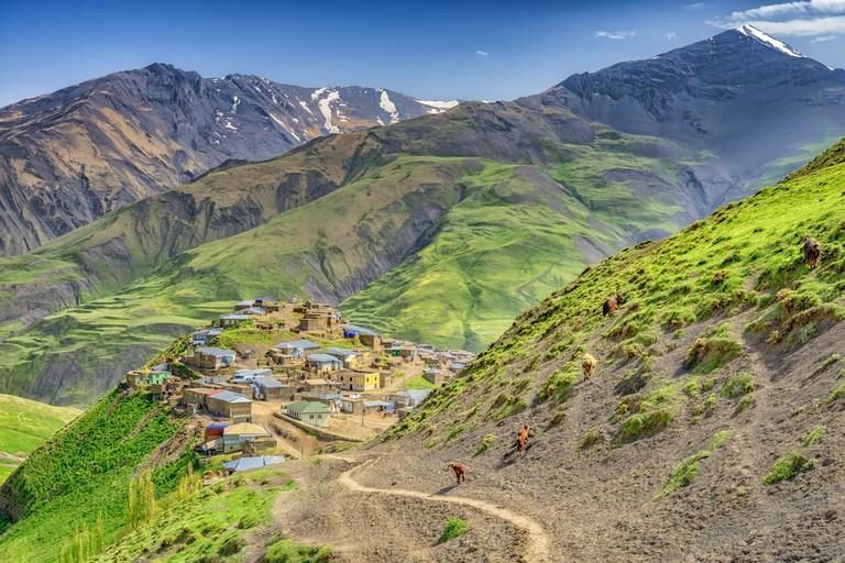 One of the beautiful Mountain Villages (Xinaliq) near Quba