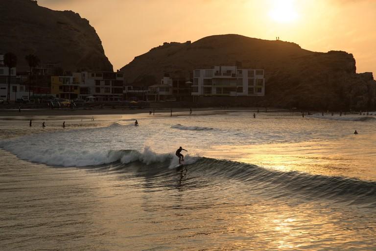 Surf at Sunset, Lima, Peru